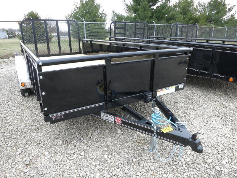 "PJ Trailers 7' x 16' Utility Trailer w/ Fold Up Gate and 22"" Metal Side"