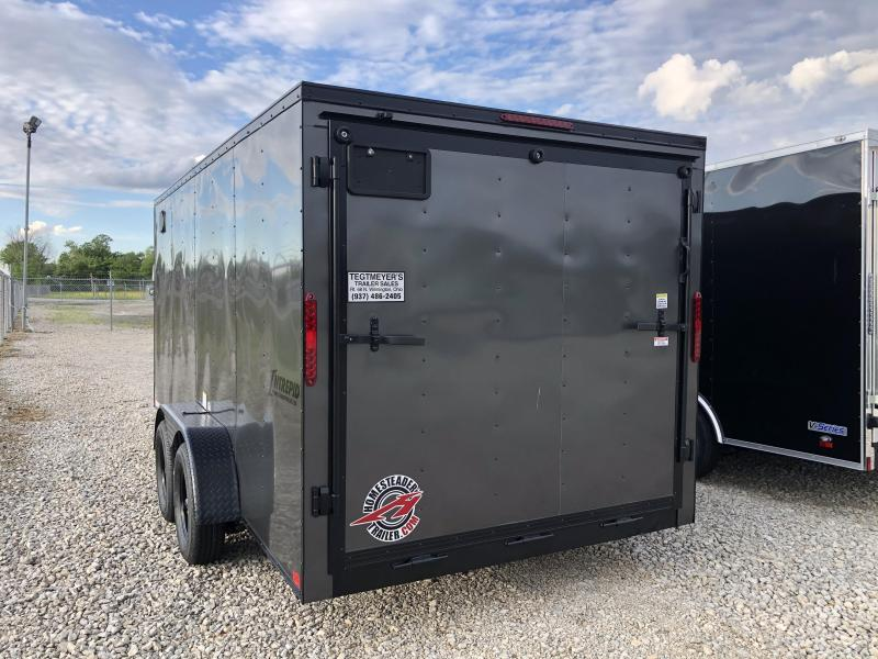 Homesteader 7x16 Enclosed Blackout Trailer with Ramp Door