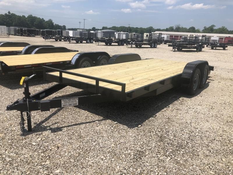 18' Wood Floor Car Hauler w/ ramps