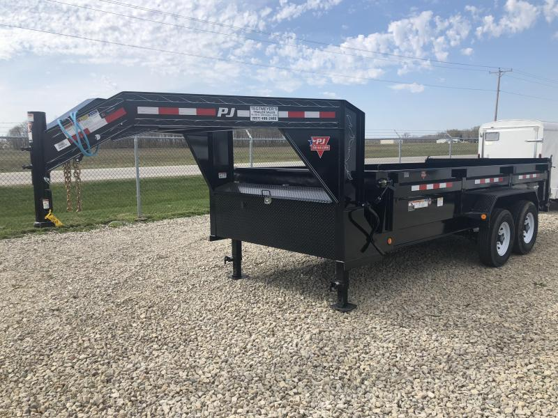 "PJ Trailers 16' x 83"" Low Pro Gooseneck Dump Trailer"