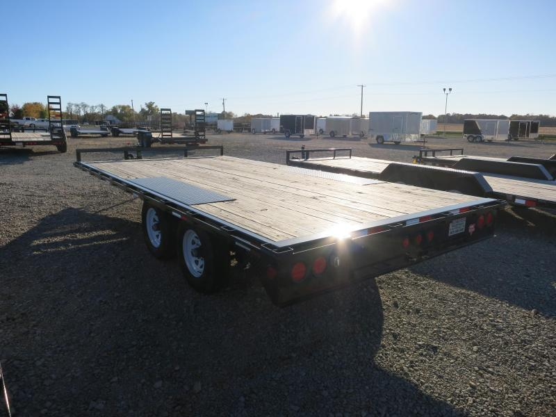 "PJ Trailers 16' Flatbed Deckover 6"" Channel Trailer"