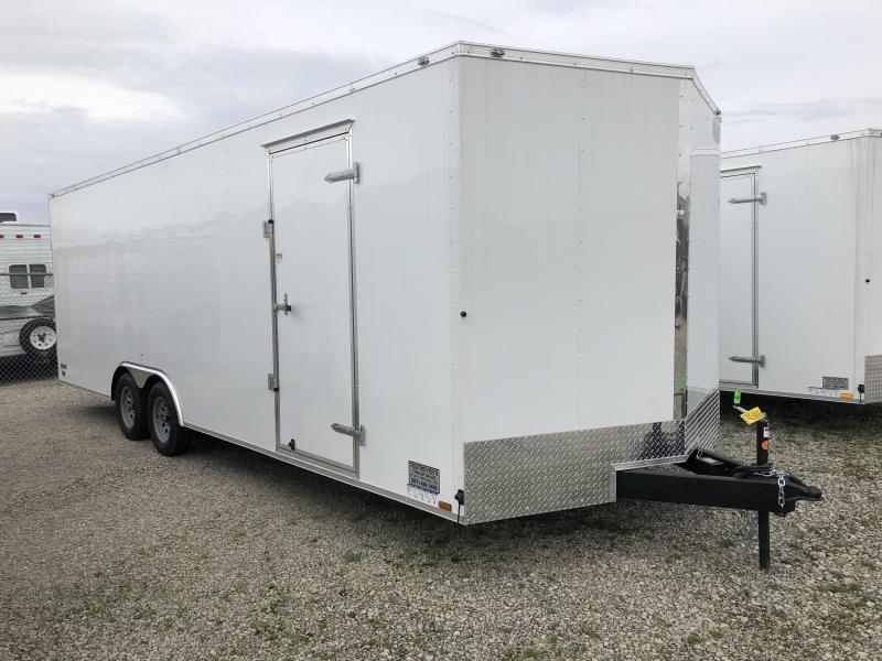 Continental Cargo 8.5X24 Tandem Axle Enclosed Trailer W/ Ramp Door - Roof Vent - D rings