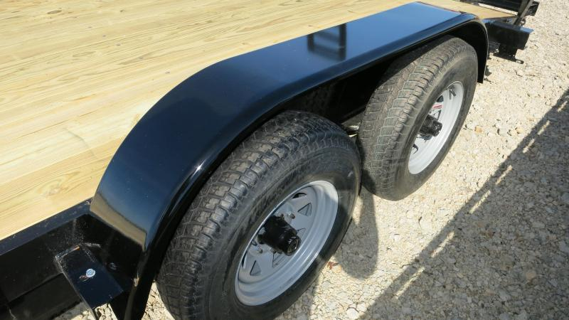 American Maunfacturing 18' Flatbed Trailer Wood Floor w/ ramps - Brake