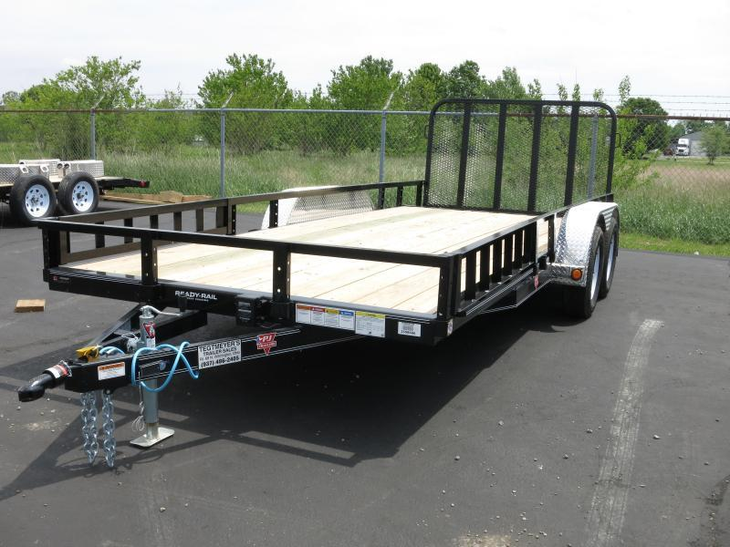 PJ Trailers 7' x16' Utility Trailer w/ Gate -Side ATV Ramps