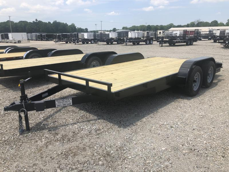 16' Wood Floor Car Hauler w/ ramps