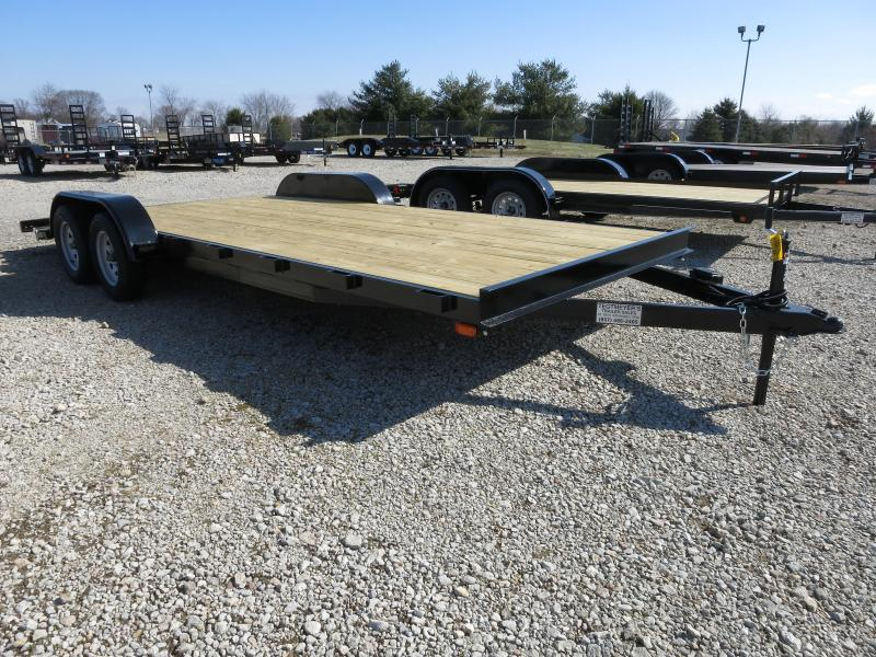 20' Car Trailers Wood Floor w/ ramps - Brake