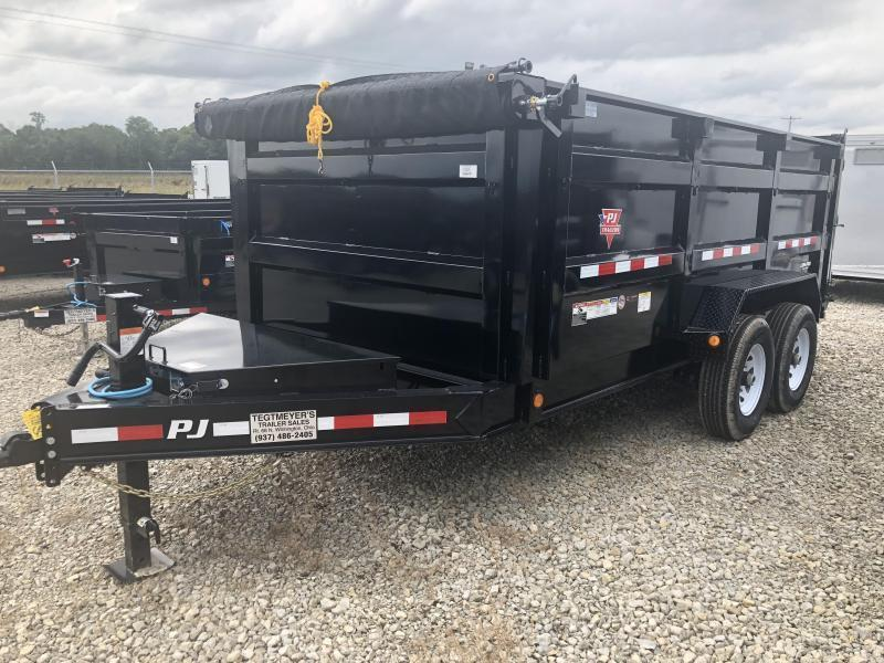 "PJ Trailers 14' x 83"" Low Pro High Side Dump Trailer"