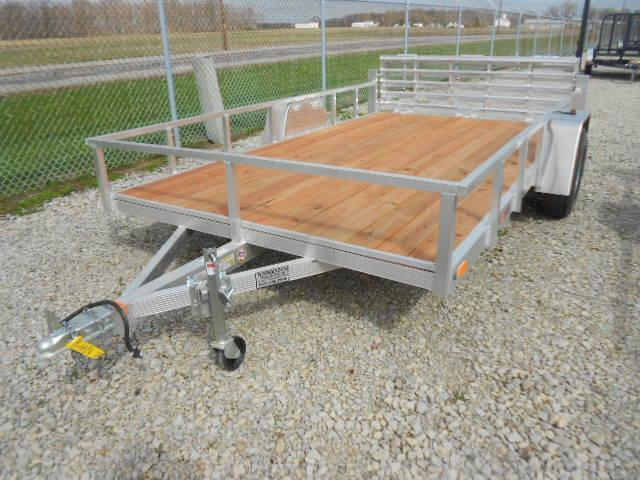 Sport Haven 6x12 Single Axle Aluminum Utility Trailer with Bi-Fold Gate