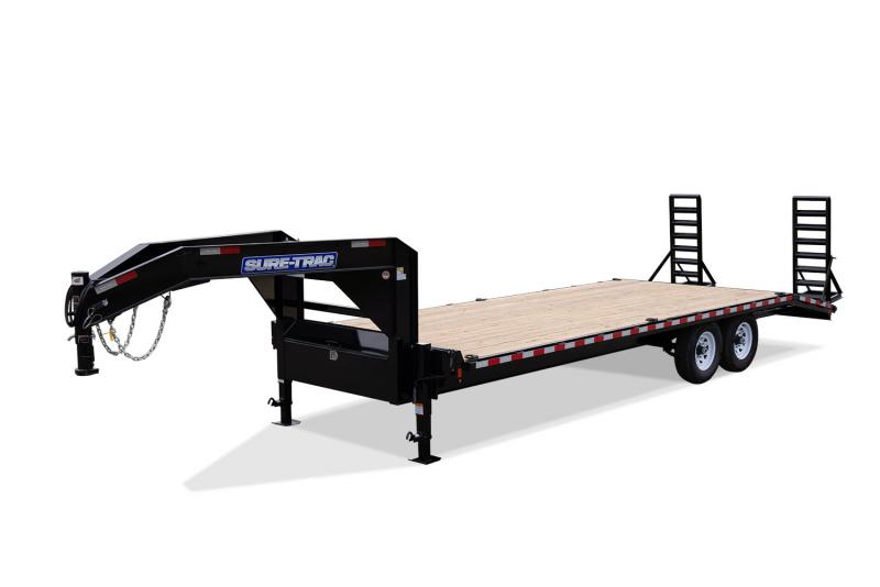 2020 Sure-Trac 8.5 x 20+4 15K GN Standard Duty Deckover Beavertail Flatbed Trailer