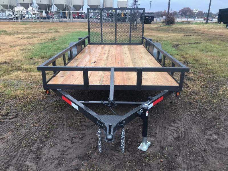 Traxx Trailers Single Axle 77x14 Utility Trailer