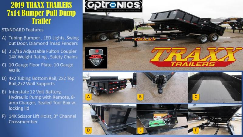 Traxx Trailers 77x14 Dump Trailer Dump Trailer