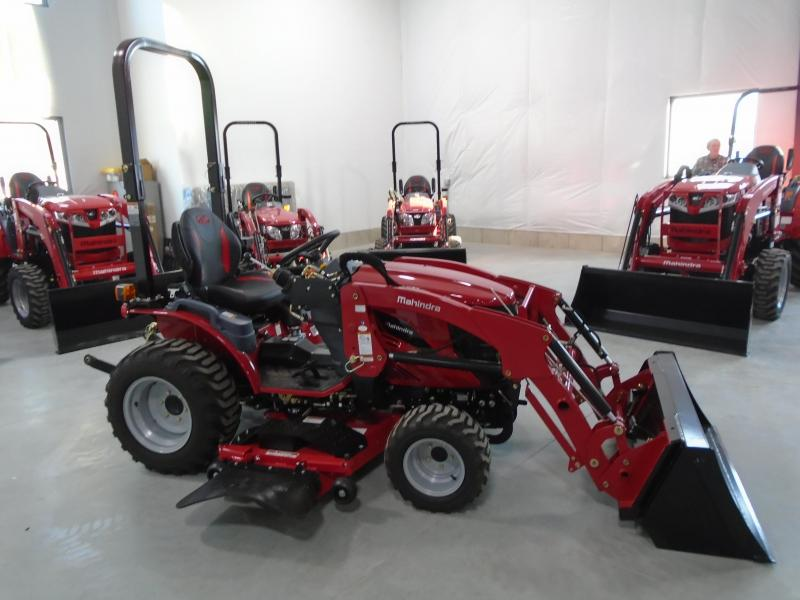 2020 Mahindra eMax25NH with Loader and Mower Tractor