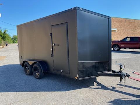 2020 Spartan 7 x 14 x 7  Matte Black Cargo Trailer