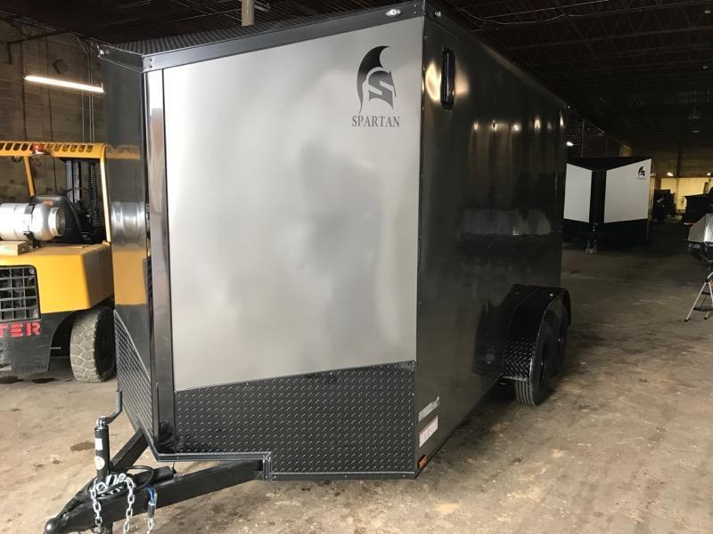 2020 Spartan 7 x 14 x 7  Gray/Black out Enclosed Cargo Trailer
