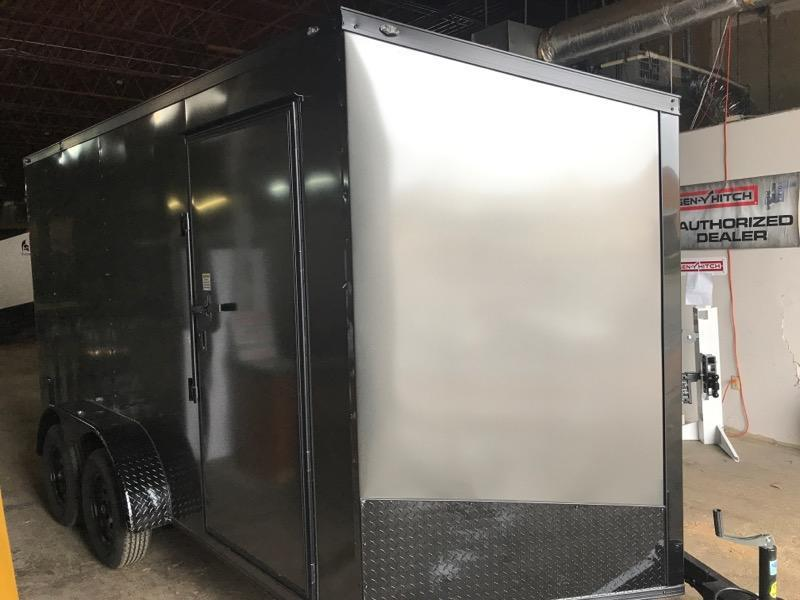 2020 Spartan 7 x 14 x 7  Gray/Black out Enclosed Cargo Trailer