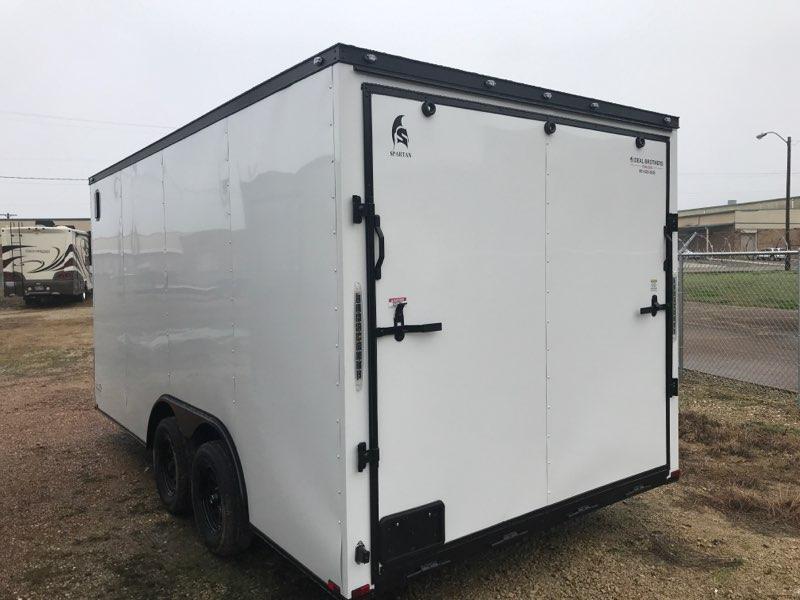 2020 8.5 x 16 White w/ blackout Enclosed Cargo Trailer