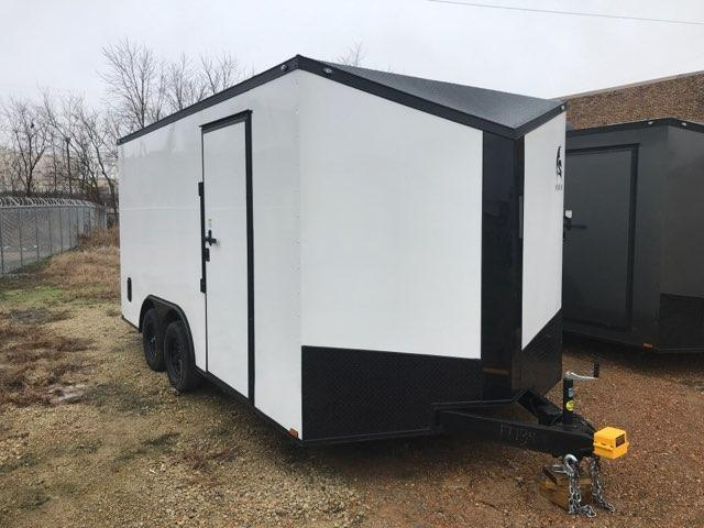 2020 8.5 x 16 White w/ blackout Enclosed Cargo Trailer