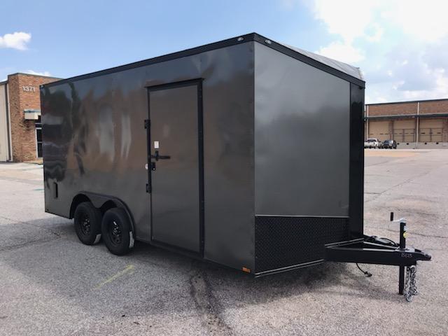 2020 Spartan 8.5 x 16 Charcoal Gray Enclosed Cargo Trailer