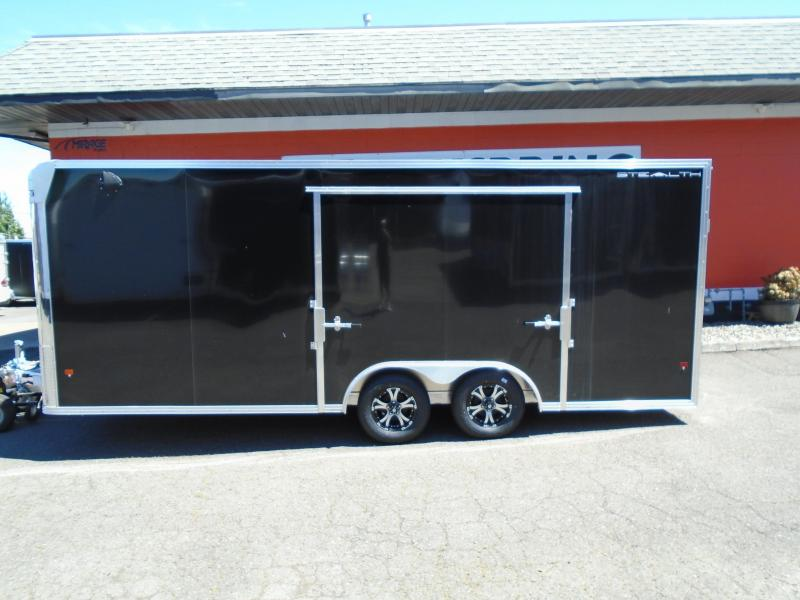 2020 ALCOM ALL ALUMINUM 8.5X20 ENCLOSED TRAILER WITH THE BIG ESCAPE DOOR