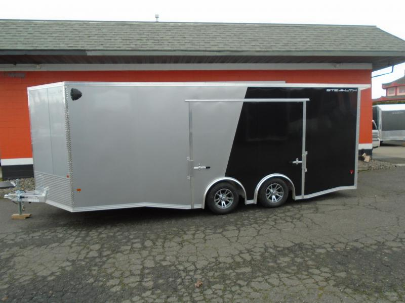 2020 ALL ALUMINUM 8.5X20 CAR HAULER WITH ELITE ESCAPE DOOR