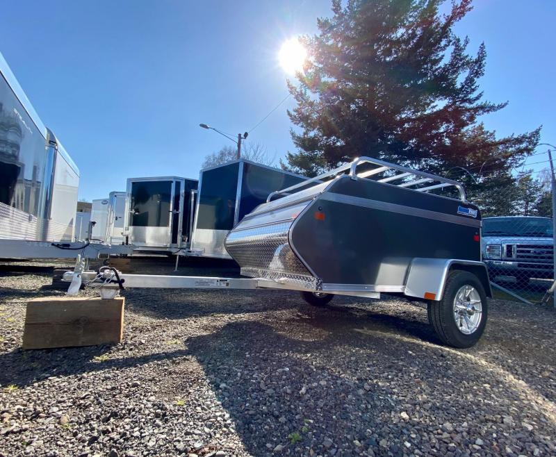 2020 ALCOM 4X6 All Aluminum Enclosed Trailer  only weighs 362 lbs!