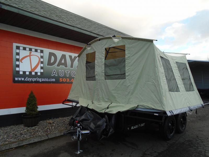 2020 Jumping Jack Trailers JJT6X12X8 BLACKOUT Tent Camper
