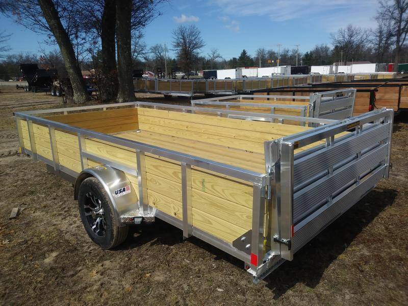 """2019 H and H Trailer 6'8"""" X 14' WOOD-SIDE ALUM 3K"""