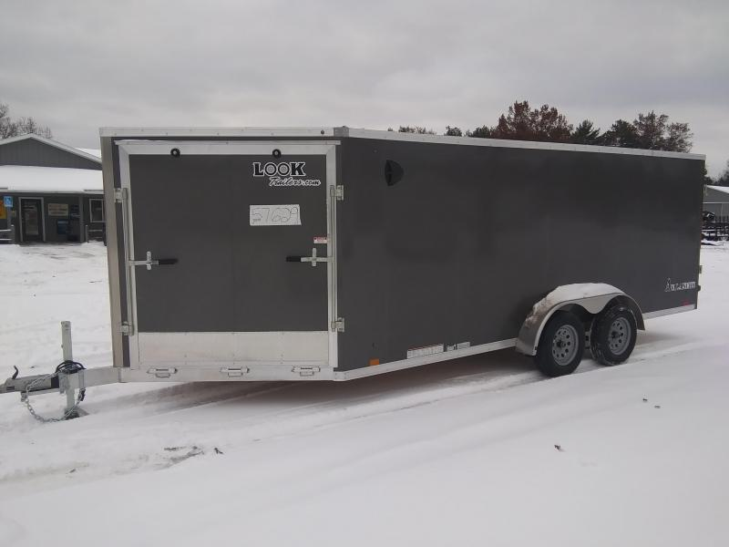 2020 Look Trailers AWEF 7 X 23 3 Place Snowmobile Trailer