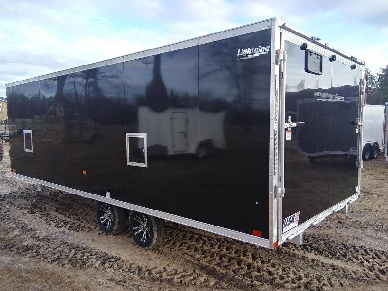 2020 Forest River Inc. 8.5 x 20 4 Place Snowmobile Trailer