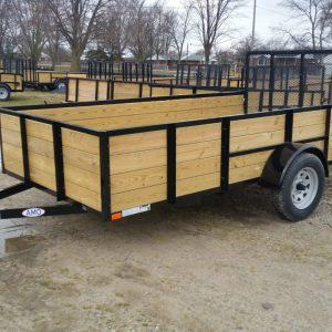 5 x 8 A.M.O. Landscape Light Duty Wood Side Trailer