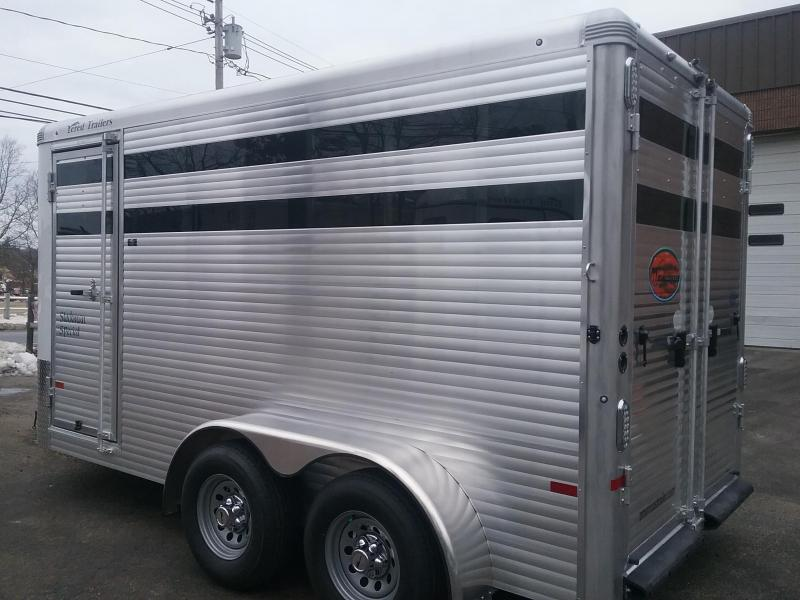 2020 Sundowner Trailers Stockman 3H Slant Combo BP Horse Trailer