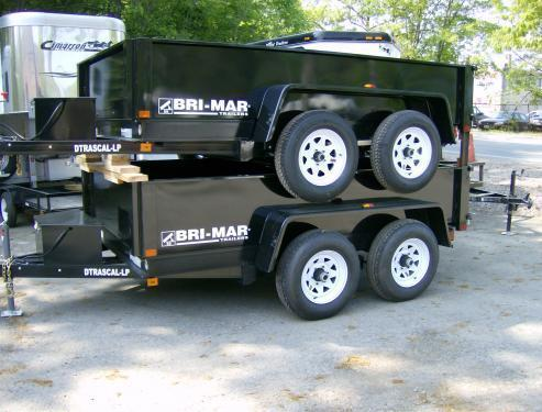 2018 Bri-Mar DT 6 x 10 LP-LE Dump Trailer