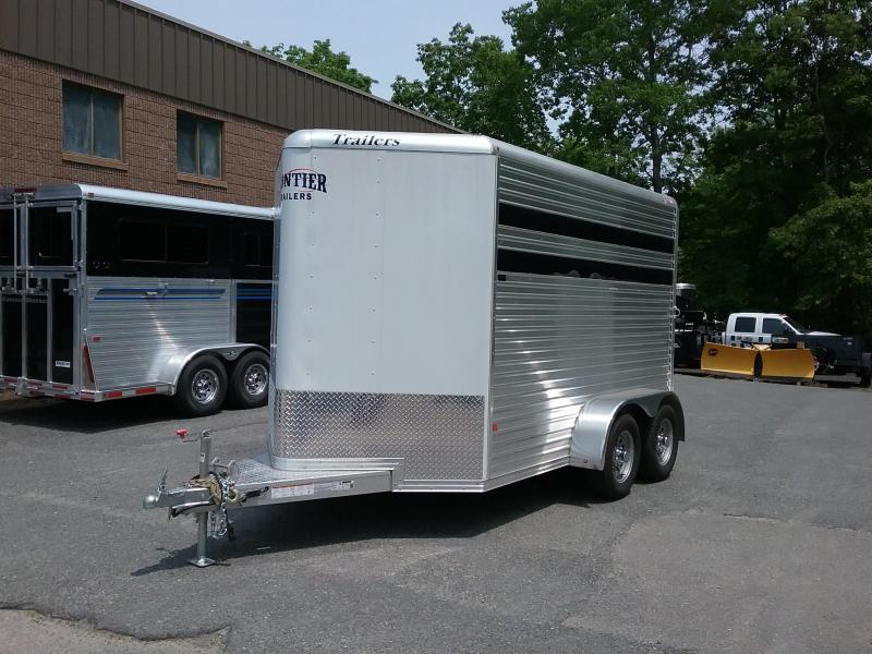 2018 Frontier 2h Stock/combo Horse Trailer