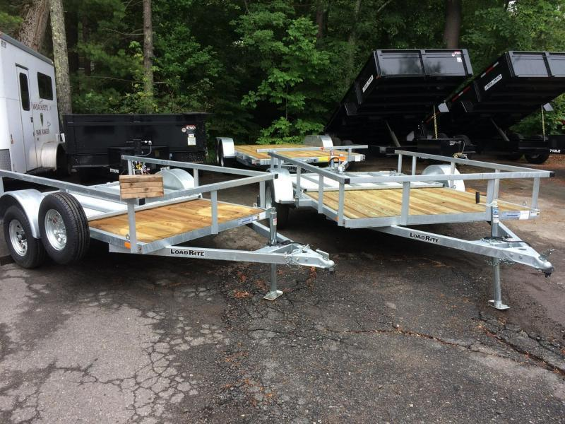 2019 Load Rite Utility With Guard Rail Utility Trailer