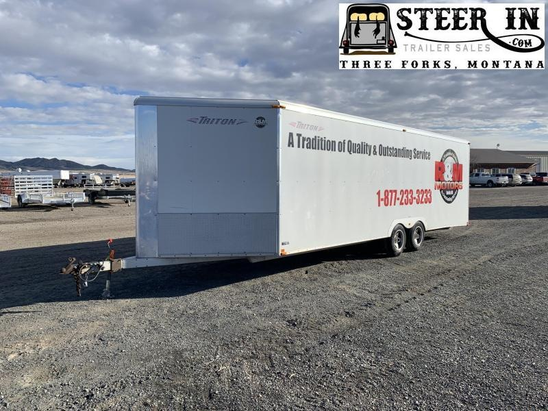 "2008 Triton 27'9"" Enclosed Snowmobile Trailer"
