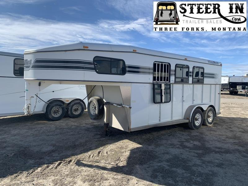 1998 Trails West 3H GN Horse Trailer