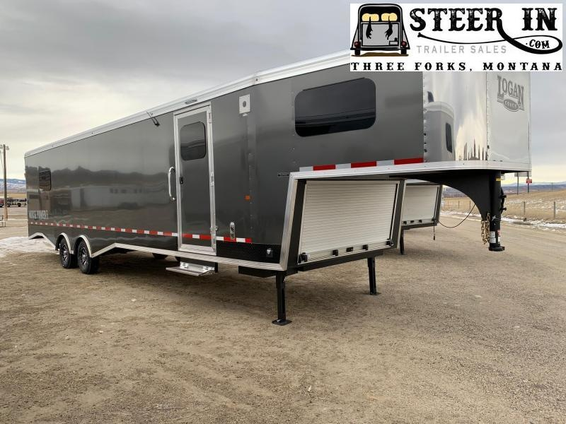 2020 Logan 33' ZBROZ GN HorsePower Snowmobile Trailer