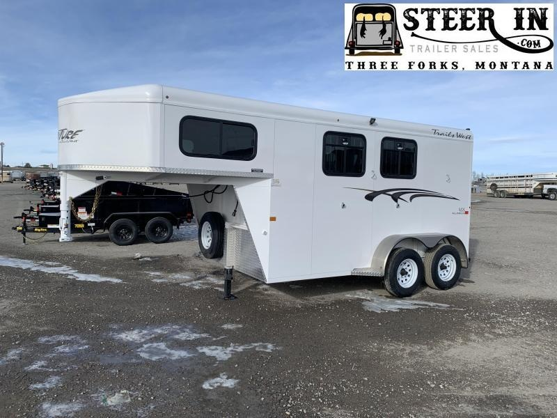 2020 Trails West Manufacturing ADVENTURE MX GN 2-HORSE Horse Trailer