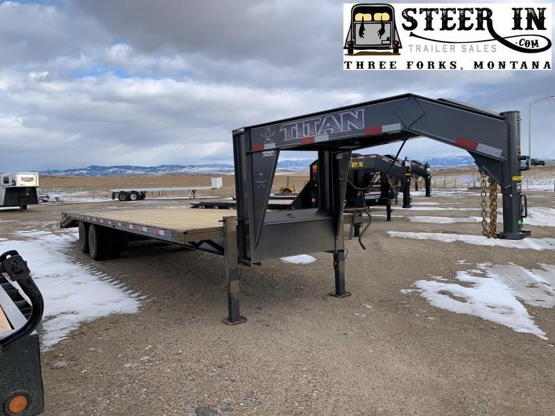 2020 Titan 30' (24+6) Tandem Dually Flatbed Trailer