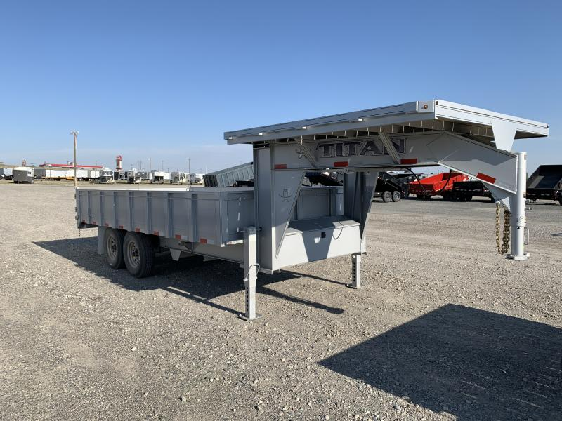 2019 Titan 16' GN Deck Over Dump Trailer