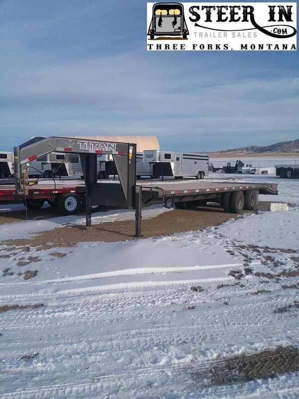 2020 Titan 30' (24+6) DUALLY Flatbed Trailer