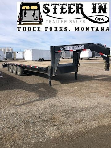 2019 Titan 24' (20+4) Flatbed Trailer