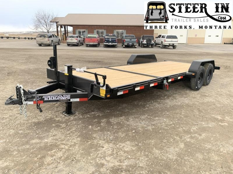 2020 Titan Trailers 16+6 Tilt Equipment Trailer