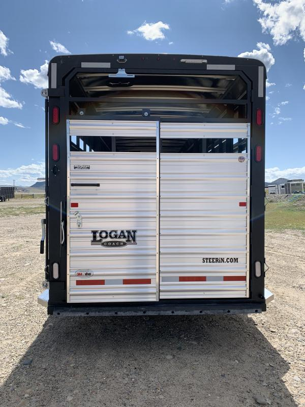 Logan Coach 24' Stockman 8' Tall Stock Trailer