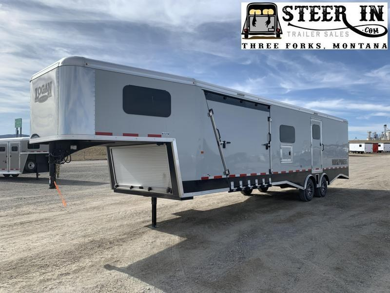 2019 Logan 31' Horsepower Pro Pkg Snowmobile Trailer