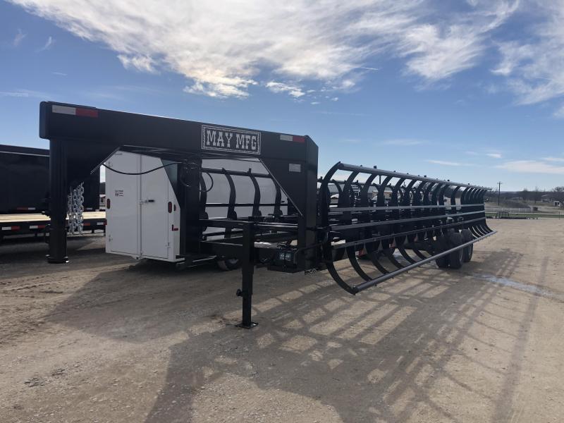 2020 May Trailers 36' 20K Gooseneck Dual Tandem 14-18 Bale Hay Trailer