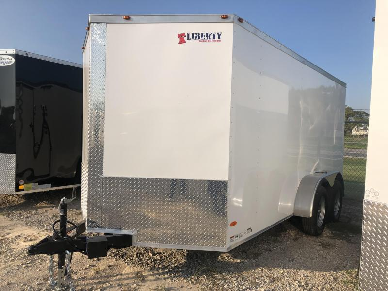 2020 Freedom Trailers 7'x14' Tandem Axle Enclosed Cargo Trailer