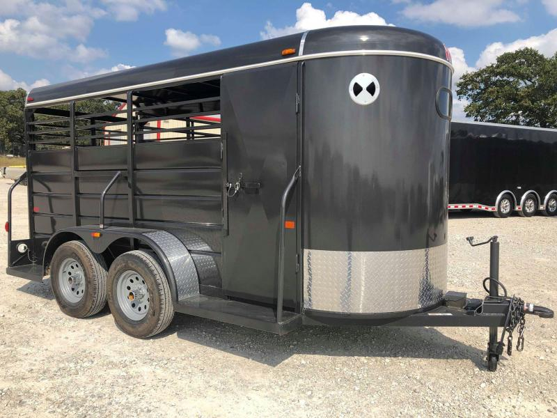 2019 W-W Trailer 14'x5' All Around Livestock Trailer