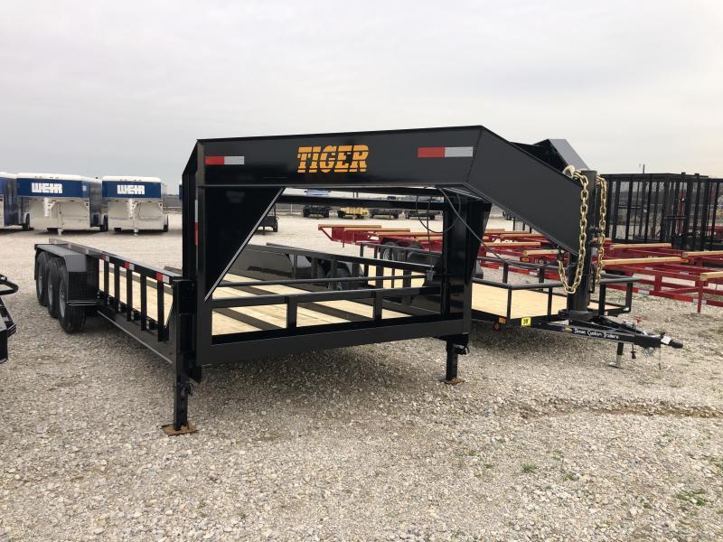 "2020 Tiger Trailer 96"" X 20' Gooseneck X Wide Tractor hauler"