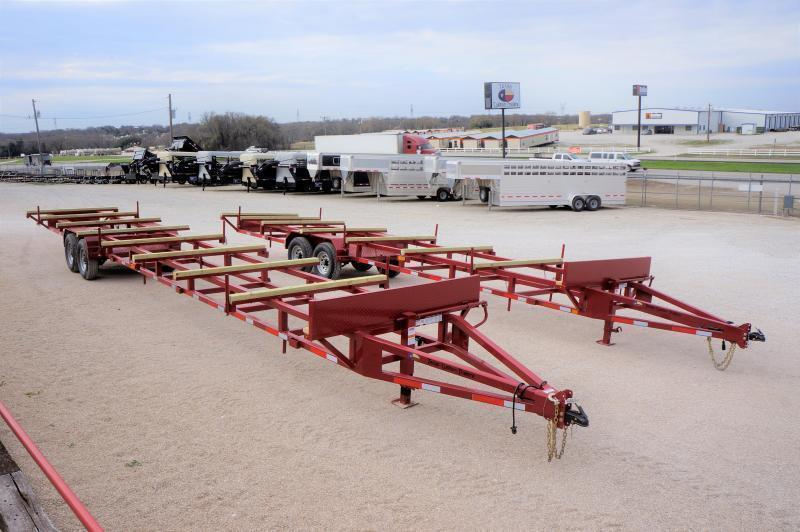 USED 2020 East Texas 32' Bumper Pull Pipe Hauling Trailer 14k